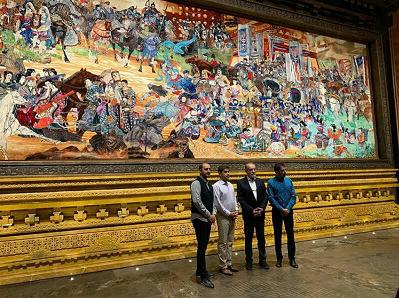بزرگترین تابلو فرش جهان در موزه هانچونگ چین به نمایش درآمد