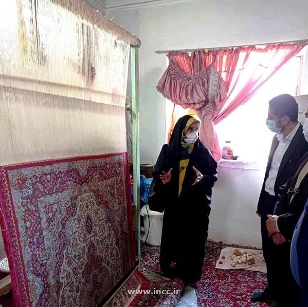 بازدید رییس مرکز ملی فرش ایران از  چند کارگاه قالی بافی در بابل