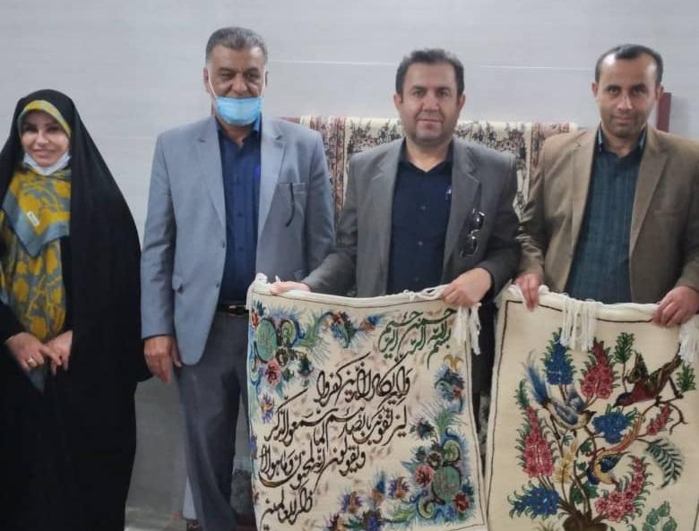 افتتاح و بازدید میدانی از نخستین قالی بافی اهواز