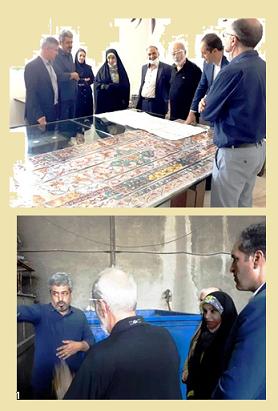 بازدید رییس مرکز ملی فرش ایران از دو کارگاه رنگرزی سنتی و طراحی نقشه فرش در  شهرکصنعتی المهدی اصفهان