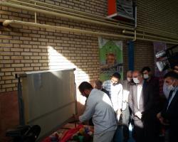 تابلو فرش دست باف استان نماد پیوند ملی ملت ایران و عراق