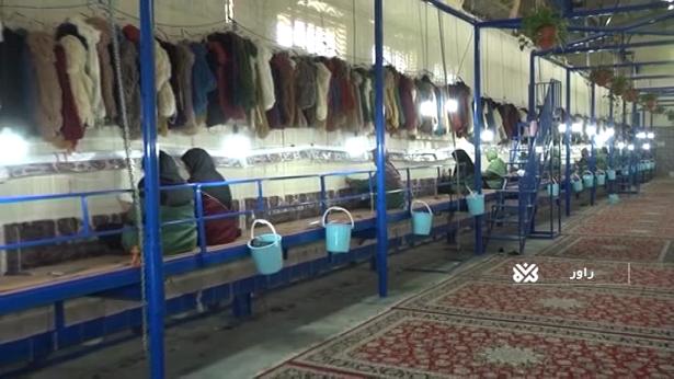 به همت آستان قدس رضوی/ رونق بافت فرش در شهرستان راور