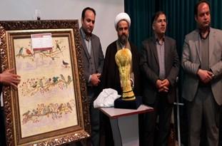 افتتاح اولین نمایشگاه فرش و تابلو فرش دستباف در بومهن