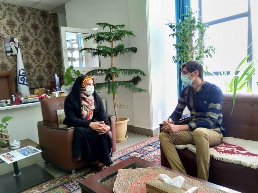 تقدیر رئیس مرکز ملی فرش ایران از مدیر مسئول سایت تجارت گردان