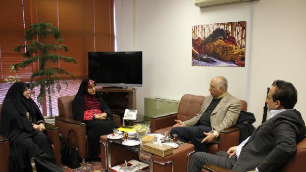 دیدار دبيركل كانون عالی كارفرمايان ايران با رئیس مرکز ملی فرش ایران