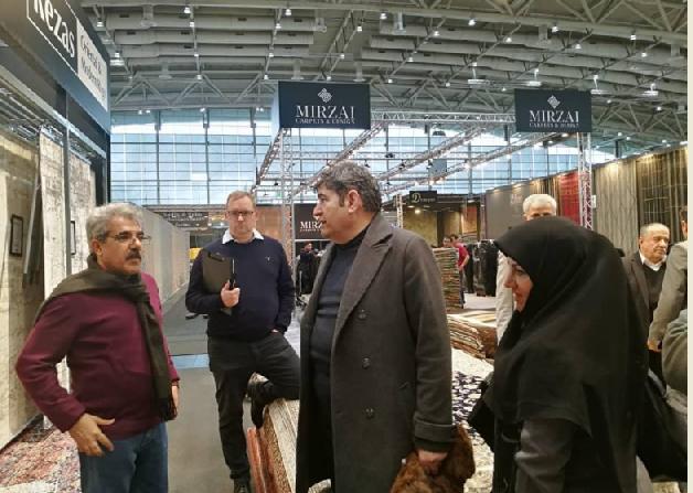 حضور رئیس فراکسیون فرش و صنایع دستی در نمایشگاه دموتکس 2019