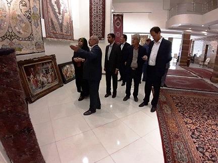 فرحناز رافع از اتحادیه صنف تولیدکنندگان و بافندگان استان زنجان بازدید کرد