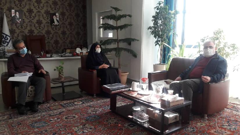 دیدار رییس مرکز ملی فرش با مدیر سایت اطلاع رسانی فرش