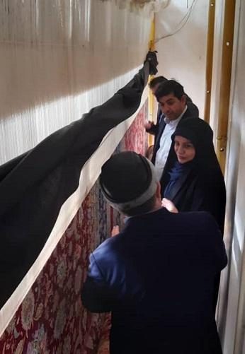 رئیس مرکز ملی فرش ایران از مجتمع قالی بافی آلتین فرش تبریز بازدید کرد