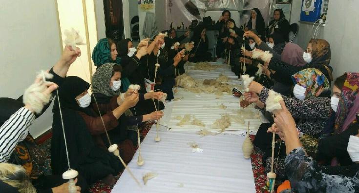 برگزاری دوره آموزش ریسندگی سنتی استان کرمانشاه
