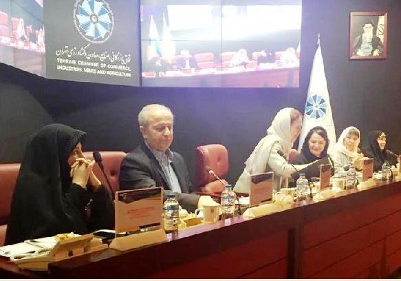 نشست بانوان بازرگان و کارآفرین ایرانی با حضور رییس مرکز ملی فرش ایران و مقامات اسلوونی در اتاق تهران