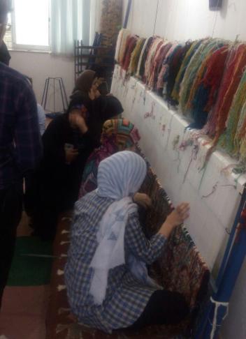 بازدید رئیس مرکز ملی فرش ایران از چند کارگاه قالی بافی در سیاهکل