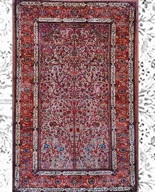 نمایشِ فرشهای محرابی در موزه فرش