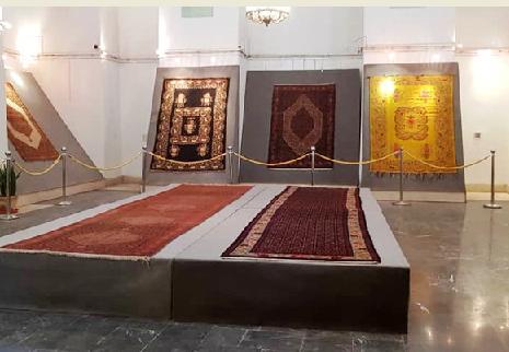 نمایشِ قالیهای کردستان با نقوش هزار ساله در کاخ گلستان