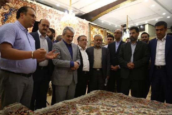 دیدار معاون رئیس جمهوری از نمایشگاه فرش دستباف قزوین