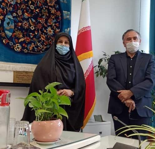دیدار رییس سازمان صنعت، معدن و تجارت خراسان شمالی با رییس مرکز ملی فرش ایران