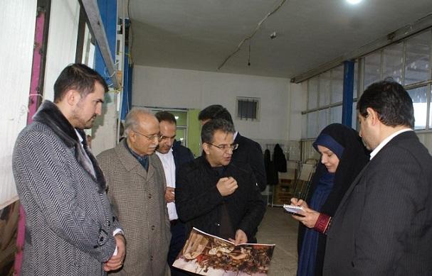 بازدید رئیس مرکز ملی فرش ایران از کارگاههای تابلو فرش سردرود